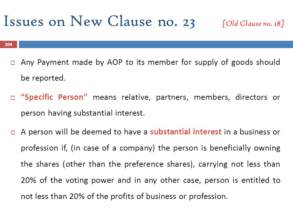 Issues on New Clause no. 23 [Old Clause no. 18]